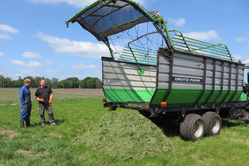 test ladewagen lossen